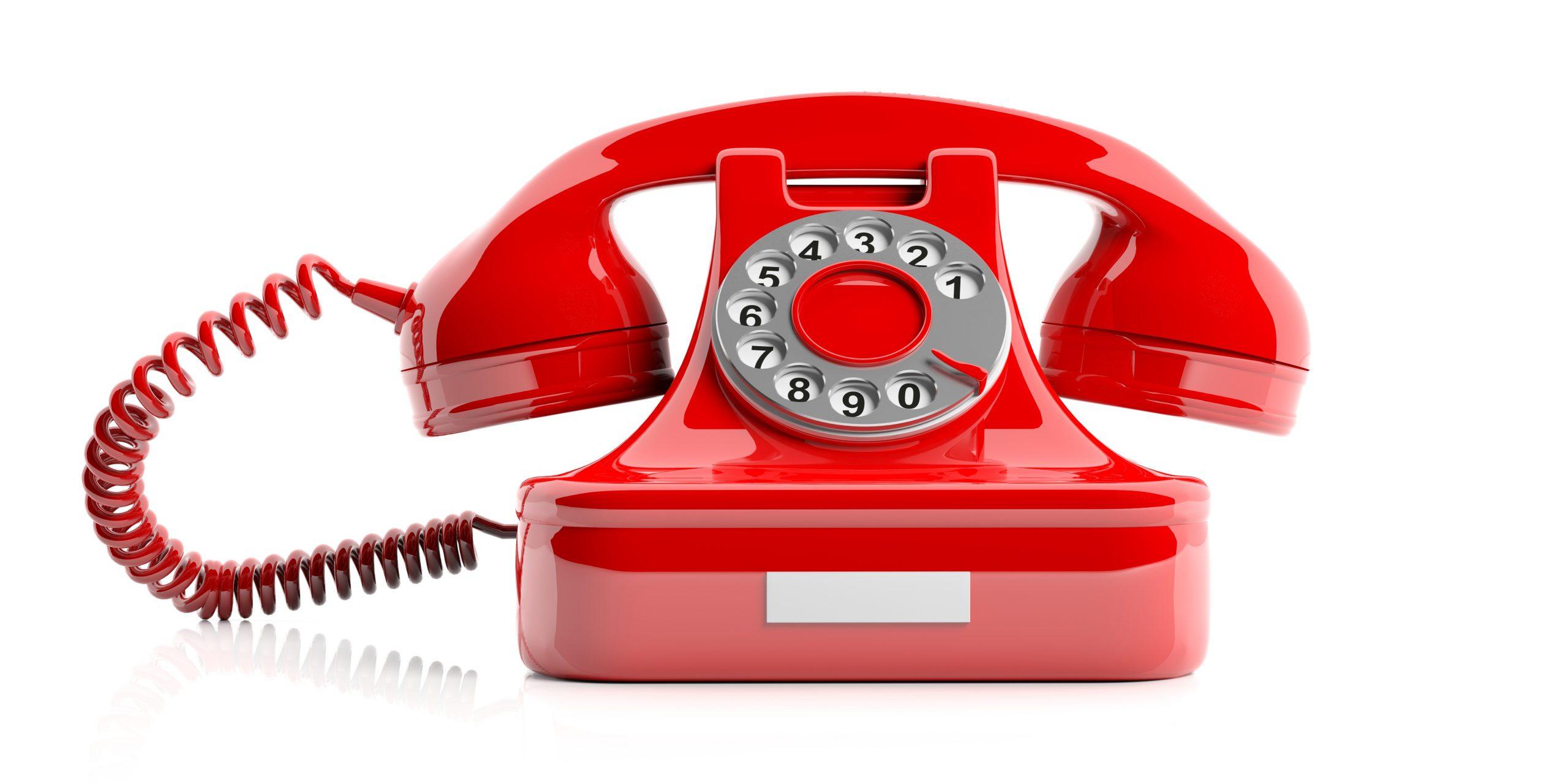 Contacto-AUno-Teléfono-Rojo